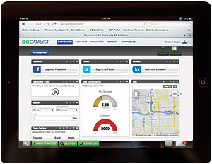 QQCatalyst mobile agency management system